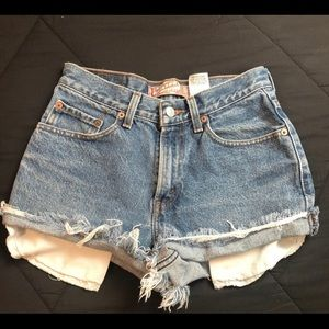 Levi's distressed denim shorts